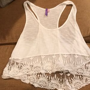Emma and Sam lace cropped tank top